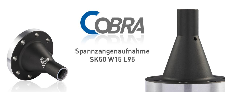 COBRA Spannzangenaufnahme SK50 W15 L95