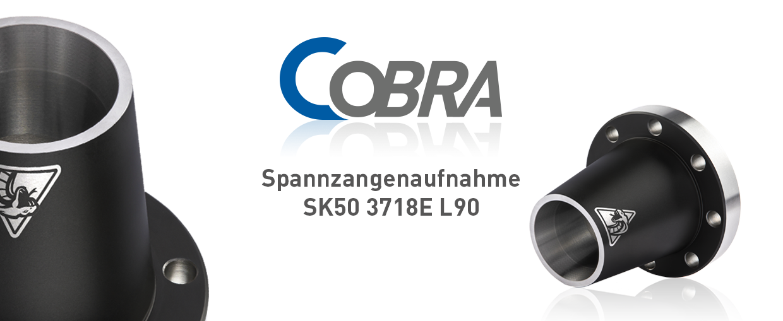 COBRA Spannzangenaufnahme SK50 3718E L90