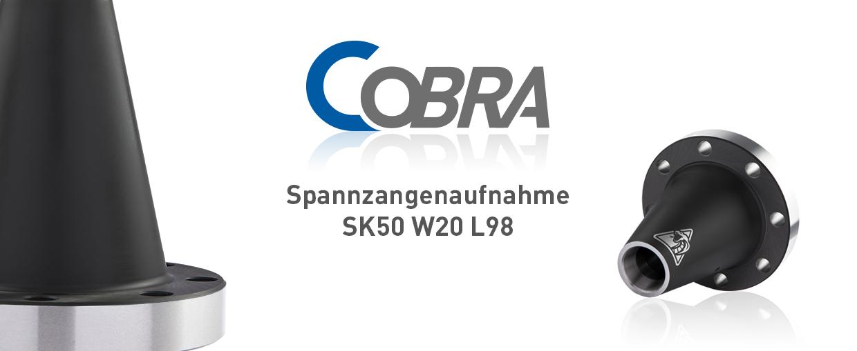 COBRA Spannzangenaufnahme SK50 W20 L98