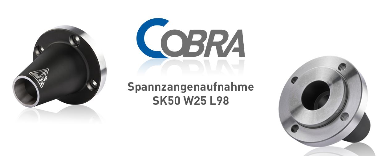 COBRA Spannzangenaufnahme SK50 W25 L98